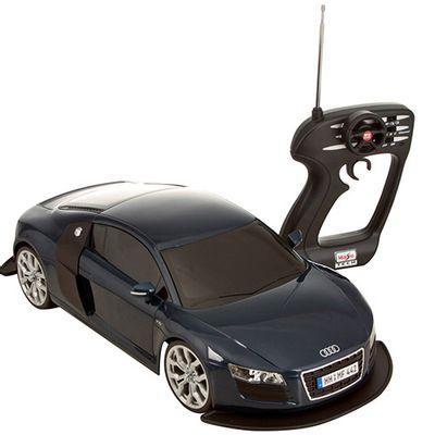 Controle-e-Carro-de-Controle-Remoto-Audi-R8-V10-1-10-27MHz-Maisto