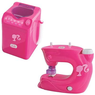 Kit-de-Utilidades-Barbie-Maquina-de-Costura-e-Maquina-de-Lavar-Lider