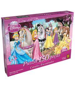 Caixa-Quebra-Cabeca-Princesas-Disney-Cavalos-Encantados-150-Pecas-Grow