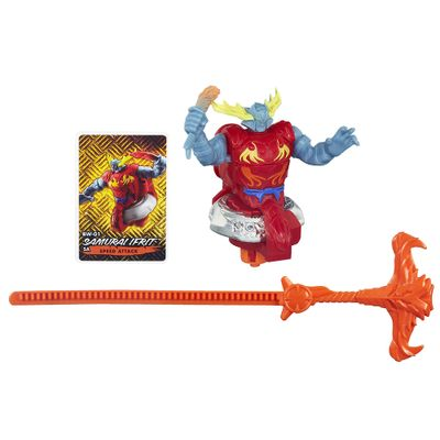 Pião de Batalha Beyblade - Beywarrior Shogun Steel - Samurai Ifrit Vermelho - Hasbro