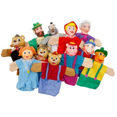 Fantoches-Os-3-Porquinhos-Chapeuzinho-Vermelho-e-Cachinhos-Dourados-Solzinho