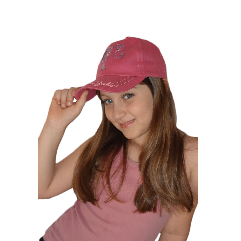 Boné Barbie Feminino Infantil - Boneleska Boné Barbie Infantil 6 Feminino P Boneleska