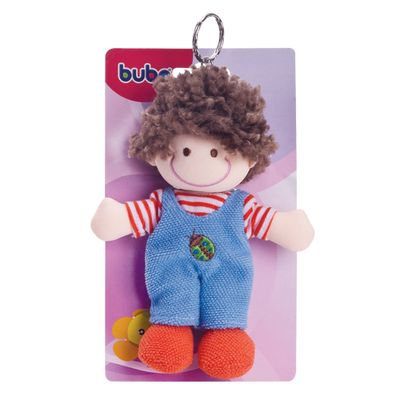 Boneco-de-Pelucia-Chaveirinho-Moreno-com-Macacao-Buba