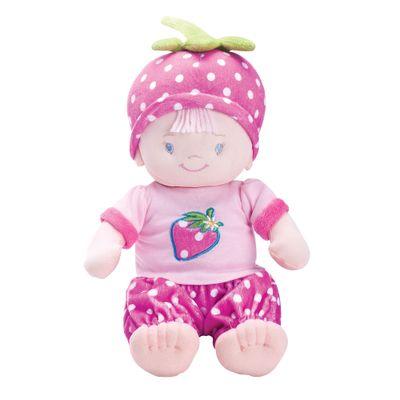 Boneca de Pelúcia Bebê Fantasia - Moranguinho - Buba