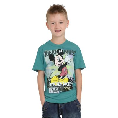 Camiseta-Disney-Manga-Curta-Turquesa