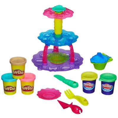 Conjunto Play-Doh - Doces Criações - Torre de Cupcakes - Hasbro
