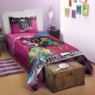 Colcha-Matelasse---Monster-High---150-x-210-cm---Lepper---4552301
