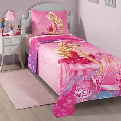 Jogo-de-Cama---Barbie-e-as-Sapatilhas-Magicas---150-x-220-cm---Lepper---4976601