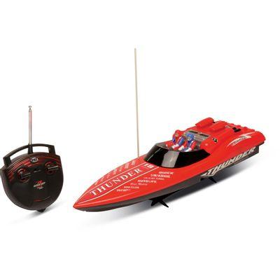 Lancha de Controle Remoto Aqua Thunder Vermelha - DTC