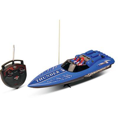 Lancha de Controle Remoto Aqua Thunder Azul - DTC