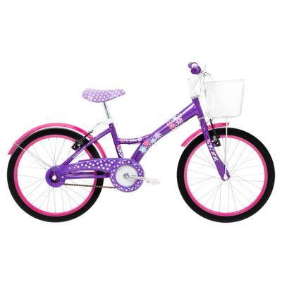 Bicicleta-Aro-20---Aco-My-Bike-Roxa-com-Cesta-e-Pneus-Pretos---Tito-Bikes