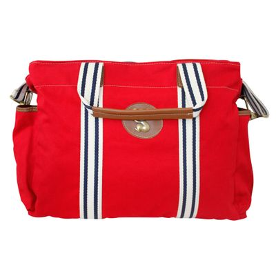 Frasqueira-Termica-Gold-Coast-Sarja-Vermelho-Classic-For-Baby-Bags-GBaby