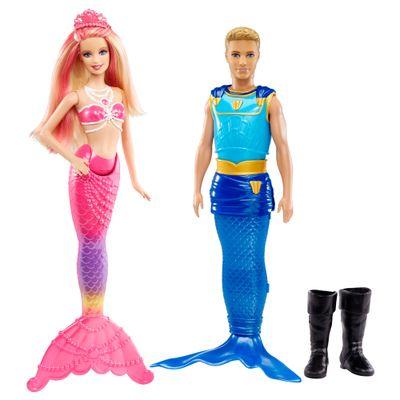 Boneca-Barbie-e-a-Sereia-das-Perolas-e-Boneco-Principe-Delphin---Mattel