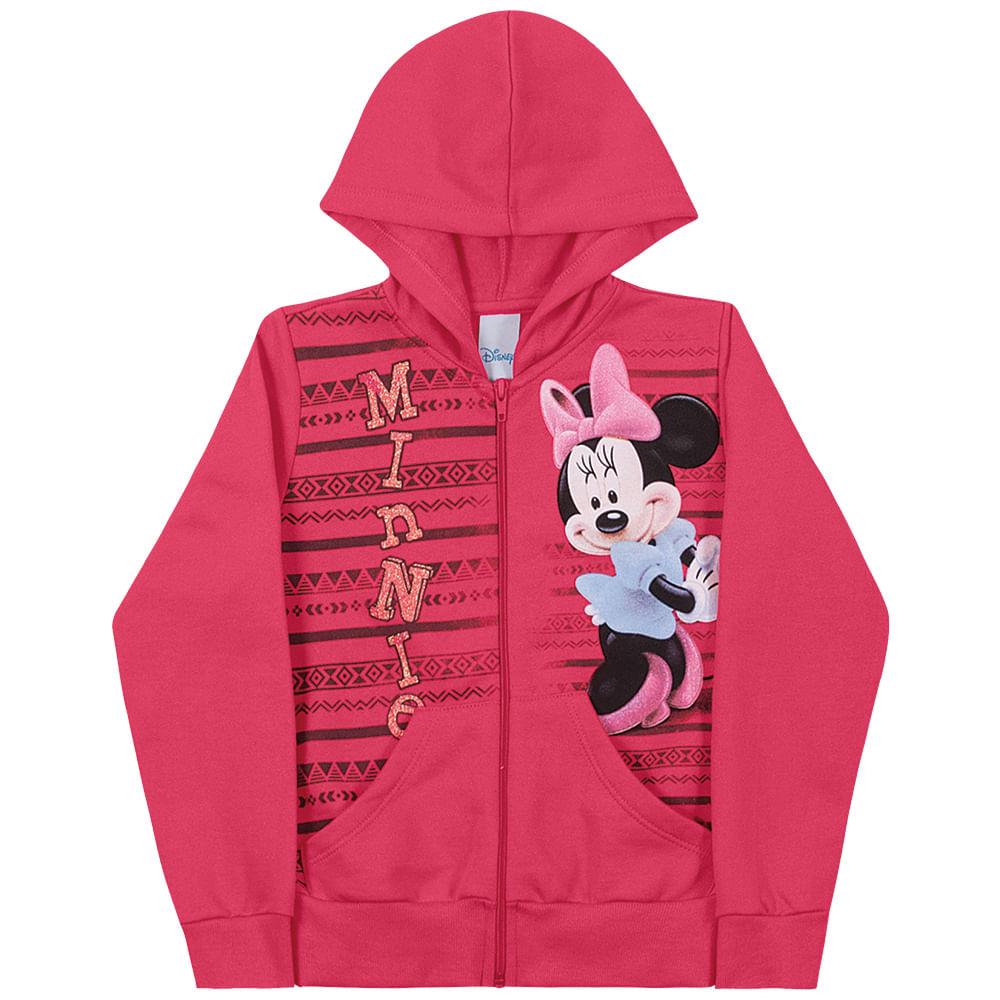 Jaqueta Disney com Capuz - Infantil - Rosa Choque - Cativa Jaqueta Disney com Capuz - Infantil - Rosa Choque - 8