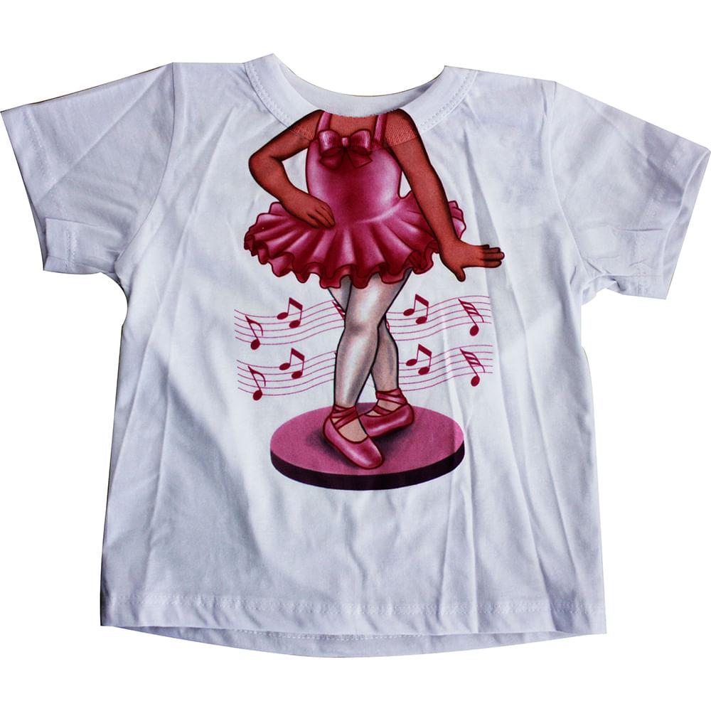Camiseta Manga Curta Bailarina - Branco - Mini Mix - GBaby - 2