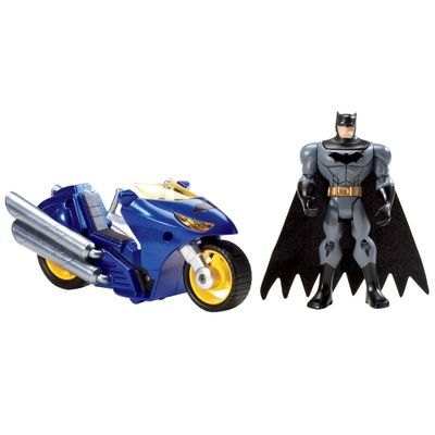 Figura com Veículo Liga da Justiça - Batman - Mattel