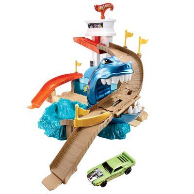 Pista Hot Wheels Color Change - Ataque Tubarão - Mattel