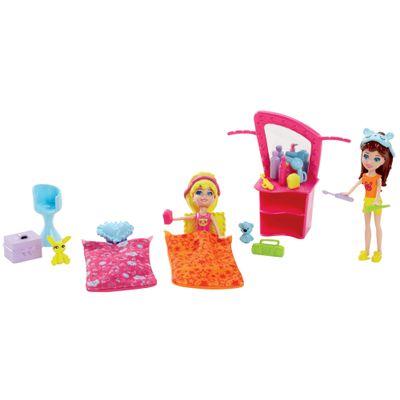 Boneca Polly Pocket 2 Amigas Dia Divertido - Festa do Pijama - Mattel