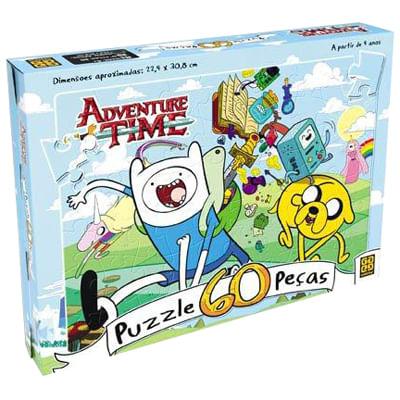 Quebra-Cabeça - Adventure Time - 60 Peças - Grow