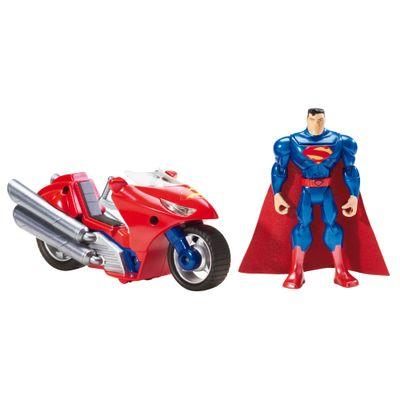 Figura com Veículo Liga da Justiça - Superman - Mattel