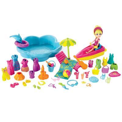 Boneca Polly Pocket - Super Conjunto Diversão na Praia - Mattel