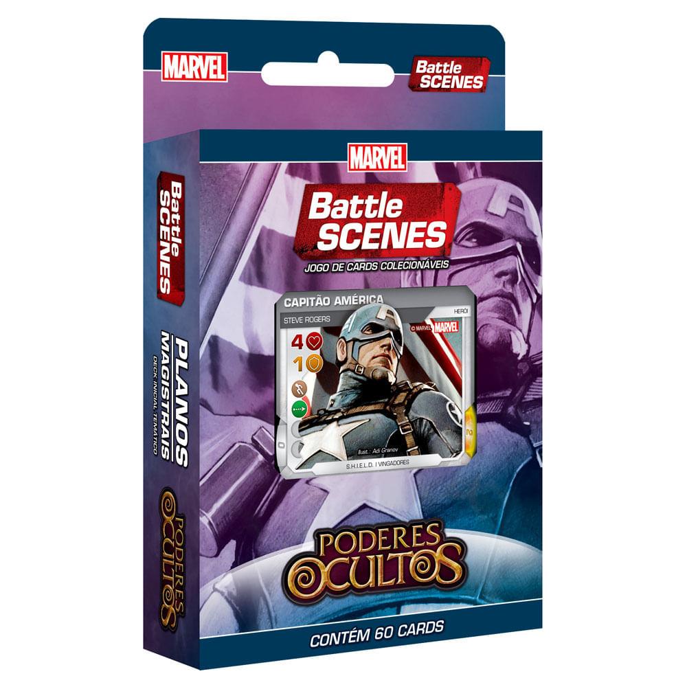 Deck Planos Magistrais - Marvel Battle Scenes - Poderes Ocultos - 60 Cartas - Copag