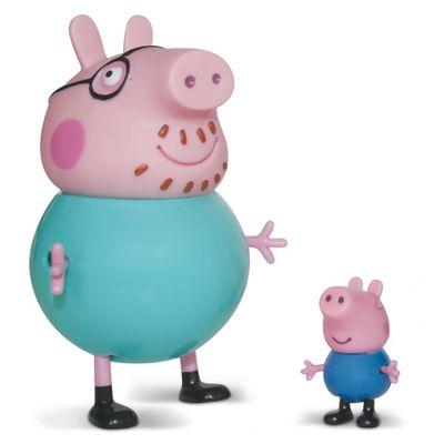 Figuras-Colecionaveis-Peppa-Pig-e-sua-Familia---Papai-Pig-e-George---Estrela