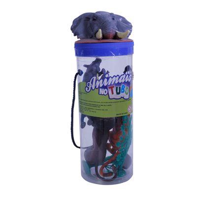 Conjunto Bichos em Miniatura - Animais no Tubo - Africa - Toyng