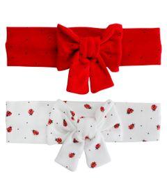 Kit-Tiara-de-Cabelo-Joaninha---Vermelha-e-Marfim---2-Unidades---GBaby
