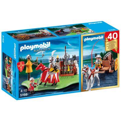Playmobil-Cavaleiros---40o.-Aniversario---Torneio-de-Cavaleiros---Carruagem-do-Canhao---5168
