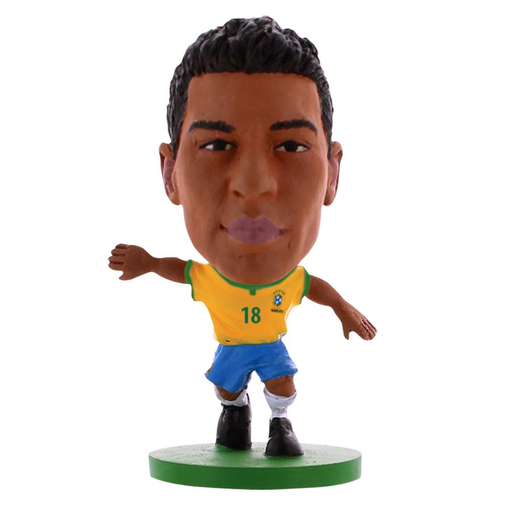 Boneco Minicraque CBF Soccerstarz - Paulinho - 18 - Creative