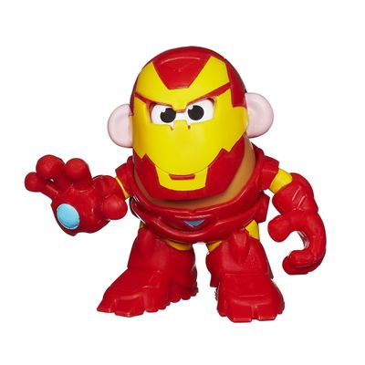 Mini Figura Transformável - Mr. Potato Head - Marvel - Iron Man - Hasbro - Disney