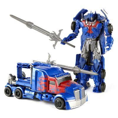 Boneco Transformers 4 - Smash and Change - Optimus Prime - Hasbro