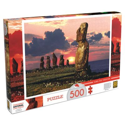 Quebra-Cabeça Ilha de Páscoa - 500 peças - Grow