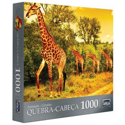 Quebra-Cabeça Animais - Girafas - 1000 Peças - Toyster
