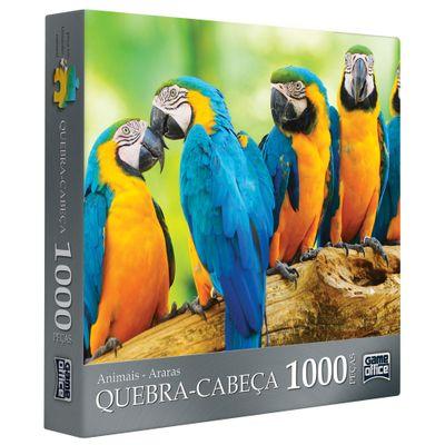 Quebra-Cabeça Animais - Araras - 1000 Peças - Toyster