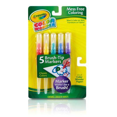 Super Pincéis Color Wonder - 5 Canetas - Crayola