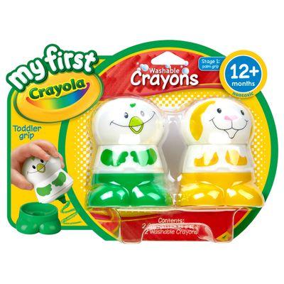 Bonecos-com-Giz-de-Cera-My-First---Verde-e-Amarelo---Crayola
