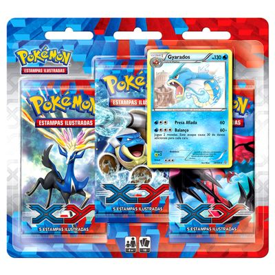 Triple-Pack---Pokemon-XY---Gyarados---Copag