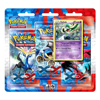 Triple-Pack---Pokemon-XY---Gallade---Copag