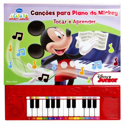 Livro-Disney-Mickey---Cancoes-Para-o-Piano-do-Mickey---DCL