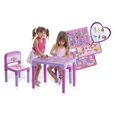 Mesa Infantil com Cadeiras da Princesinha Sofia - Multibrink