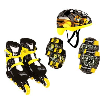 Patins-In-Line-e-Kit-de-Seguranca-Transformers---Bumblebee---37-ao-40---Conthey