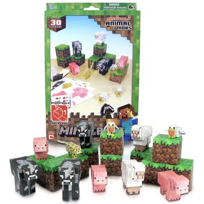 Conjunto-Minecraft---Papercraft---Animal-Mobs---Multikids---BR147