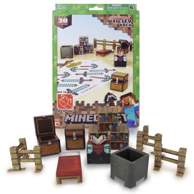 Conjunto-Minecraft---Papercraft---Utility---Multikids---BR147