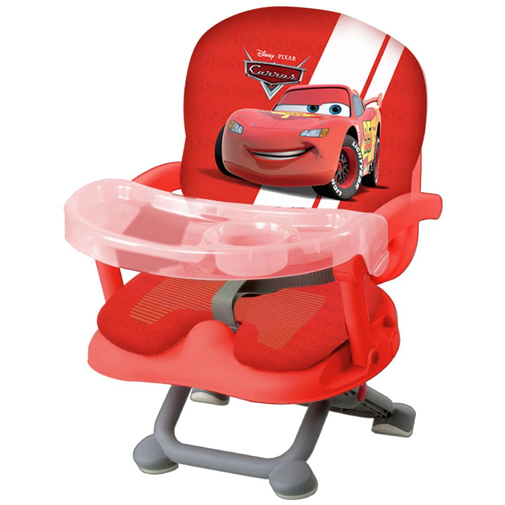 Kit de Cadeira de Alimentação com Troninho, Grade para Cama e Copo com Canudo - Disney Cars