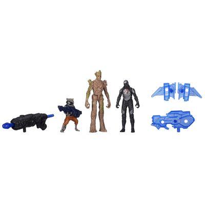 Bonecos-Guardioes-da-Galaxia---10-cm---Groot-e-Rocket-Raccoon-e-Sakaaran-Tropper---Hasbro