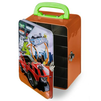 Maleta-Hot-Wheels-Porta-Carrinhos---Laranja---Intek---HWCC2