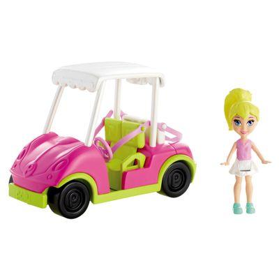 Boneca-Polly-Pocket-Veiculo-Vila-Wave---Carrinho-de-Golfe---Mattel