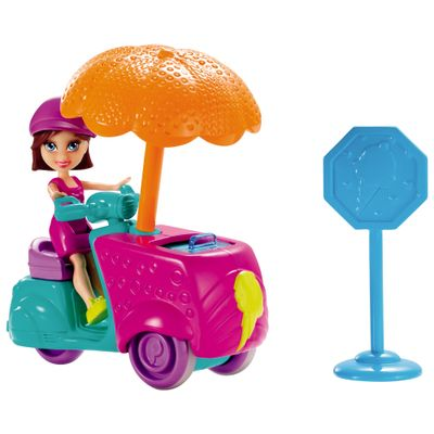 Boneca-Polly-Pocket-Veiculo-Vila-Wave---Carrinho-de-Sorvete---Mattel